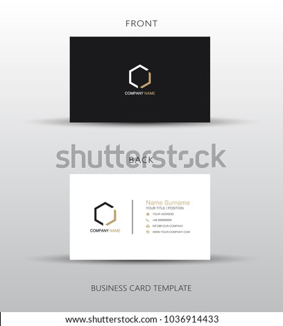 modern business card template with pattern Stock photo © SArts