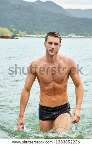 肖像 シャツを着ていない 男 見える カメラ crossfitの ストックフォト © wavebreak_media