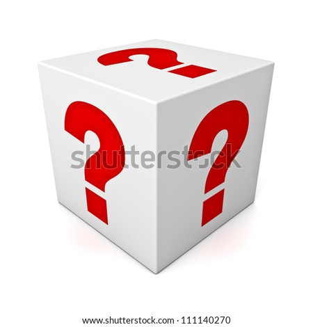 Cubic Block With Red Question Mark Sign Stock photo © AndreyPopov