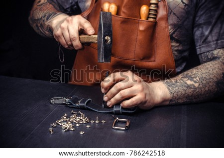 Producing leather goods Stock photo © pressmaster