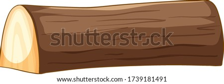 Big brown timber in cartoon style on white background Stock photo © bluering