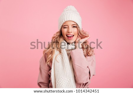 nek · stijlvol · blond · meisje · parel - stockfoto © mazirama