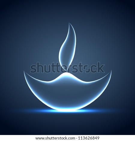 Shiny Vector Diya Stockfoto © PinnacleAnimates