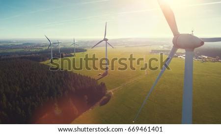 Windturbine veld groene mais zomer Stockfoto © tilo