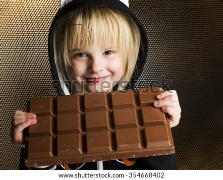 Menina alimentação bar mãos pormenor retrato Foto stock © nenetus