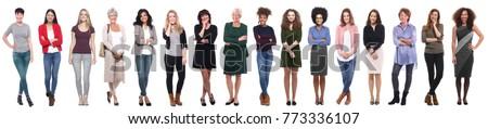 isolated casual woman stock photo © fuzzbones0