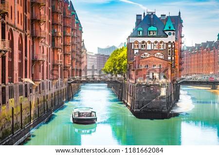 Hamburg famous Speicherstadt Stock photo © meinzahn