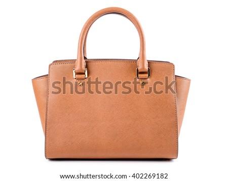 Bruin handtas illustratie witte kantoor mode Stockfoto © bluering