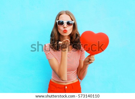 pretty girl in red Stock photo © ssuaphoto