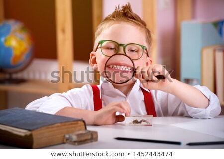 少年 ビッグ 歯 ホーム ストックフォト © dolgachov