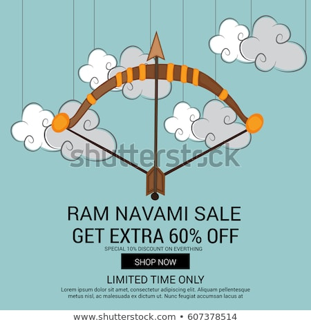 dussehra sale banner with bow and arrow Stock photo © SArts