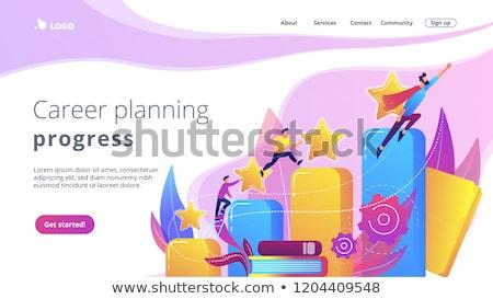 Site interface desenvolvimento planejamento vetor metáfora Foto stock © RAStudio