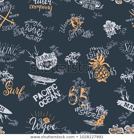 Canoeing Seamless Pattern Vector Stock photo © pikepicture