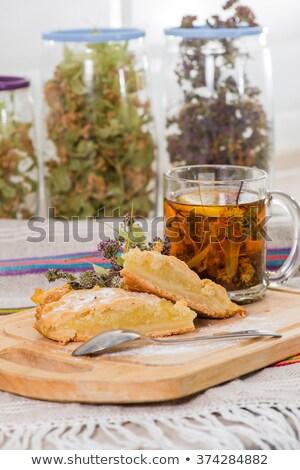 травяной · чай · Кубок · чайник · Top · мнение · свежие - Сток-фото © danielgilbey