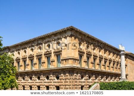 宮殿 アルハンブラ宮殿 建物 先頭 丘 ストックフォト © borisb17