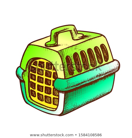 Plastic Carrier For Domestic Animal Ink Vector Stock photo © pikepicture