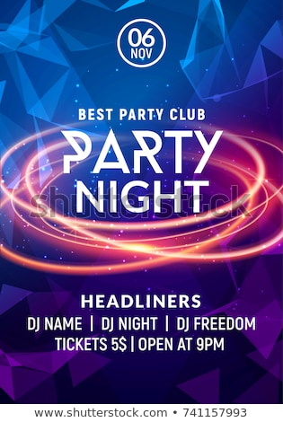 Music night party invitation poster vector template Stock photo © barsrsind