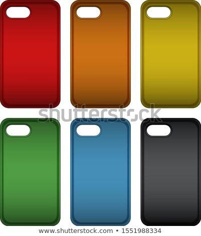Téléphone cas six différent couleurs illustration Photo stock © bluering