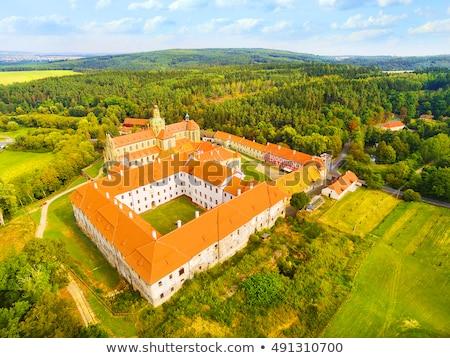 Kerk abdij Tsjechische Republiek onderstelling maagd architect Stockfoto © borisb17