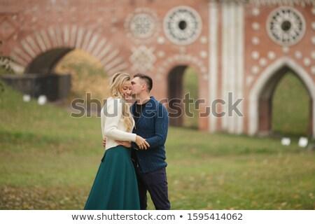 Közelkép férfi nő szeretet egyéb történelmi építészet Stock fotó © ElenaBatkova