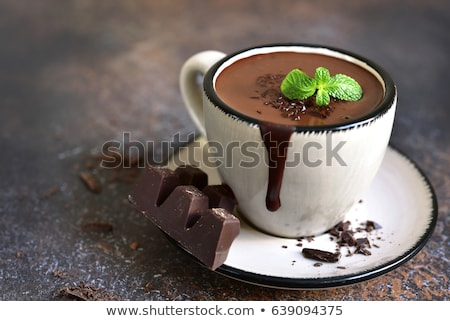 Chocolate quente copo chocolate beber Foto stock © grafvision