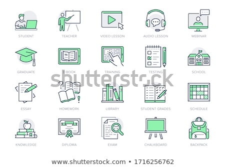 Student Personal Computer Icon Vector Outline Illustration Stock photo © pikepicture
