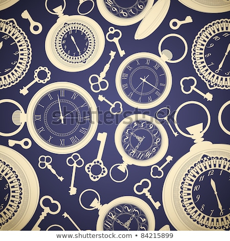 Patterned banner with antique watches Stock photo © blackmoon979