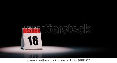 Calendario nero giorno 18 rosso bianco Foto d'archivio © make