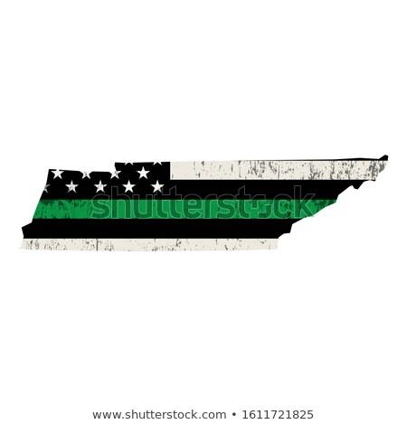 Tennessee militaire soutien drapeau américain illustration forme Photo stock © enterlinedesign