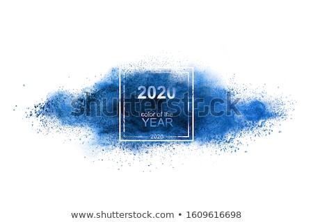 Blau Pulver Explosion Trend Farbe Jahr Stock foto © artjazz