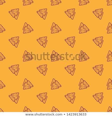 Foto stock: Mexicano · nachos · chips · salsa · queso
