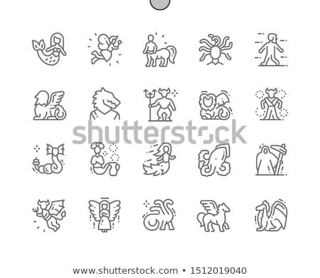 神話の ファンタジー 獣 にログイン 動物 ストックフォト © ensiferrum