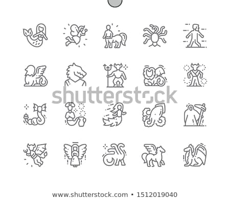 Efsanevi fantezi canavar imzalamak hayvan Stok fotoğraf © ensiferrum