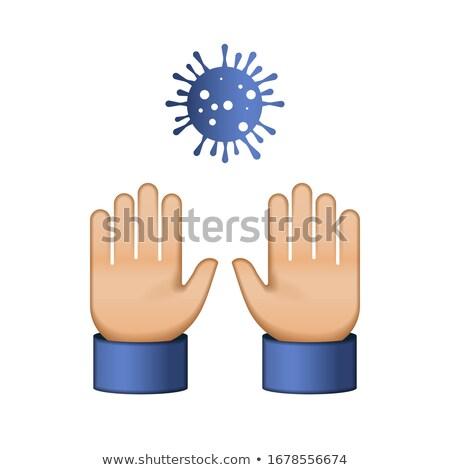 Do not Touch Me. Virus Novel Coronavirus 2019-nCoV and home quarantine. Emoji style icon. Vector ill Stock photo © ikopylov