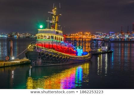Cerfs bateau permanent océan rendu 3d illustration Photo stock © orla