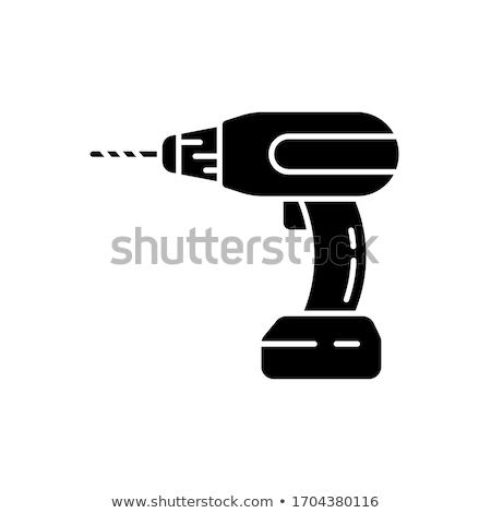 Matkap tamir pil ikon vektör Stok fotoğraf © pikepicture