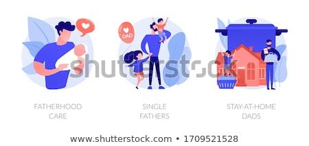 Férfiak elvesz apaság búcsú absztrakt vektor Stock fotó © RAStudio