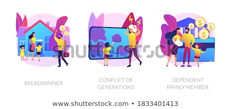 Traditional gender and social roles abstract concept vector illustrations. Stock photo © RAStudio