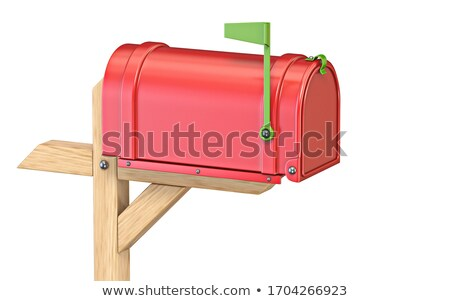 Mailbox with flag up closed 3D Stock photo © djmilic