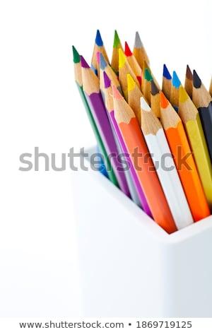 карандашей банку изолированный зеленый закрывается дизайна Сток-фото © inaquim