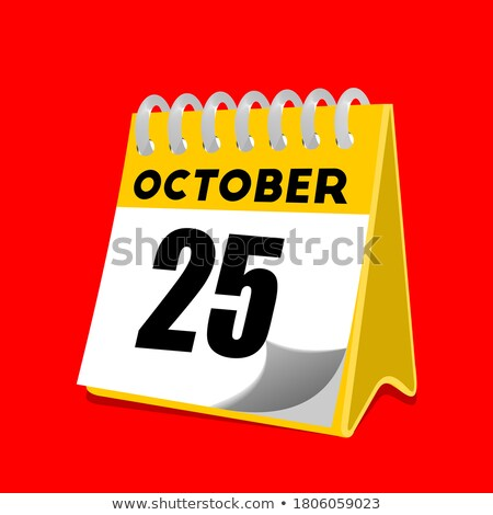 Simple black calendar icon with 25 october date isolated on white Stock photo © evgeny89