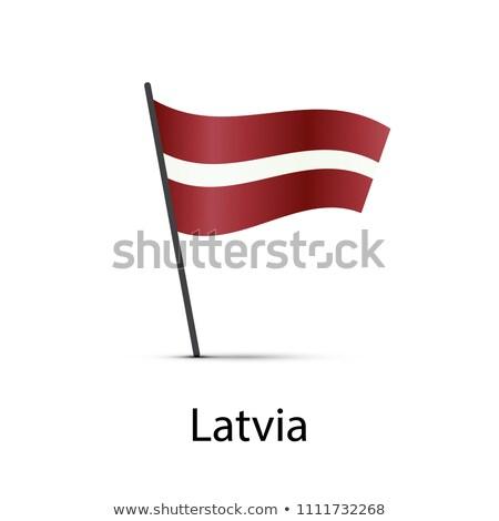 ラトビア フラグ ポール インフォグラフィック 白 ストックフォト © evgeny89
