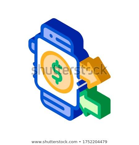 Pagamento Smart guardare isometrica Foto d'archivio © pikepicture