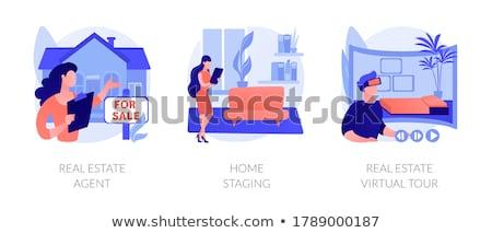 Demonstráció vektor metafora emberek tiltakozás átlátszó Stock fotó © RAStudio