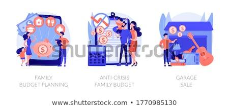 Család költségvetés tervez absztrakt vektor illusztrációk Stock fotó © RAStudio
