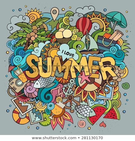 Summer Background With Word July Stock photo © balabolka