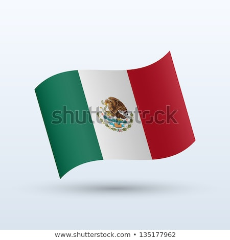 Flag of mexico in the form. vector Stock photo © fotoscool