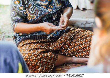 Femeie covor Peru Imagine de stoc © photoblueice