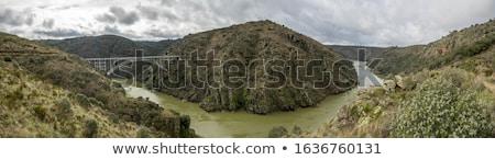 requejo bridge castile and leon spain stock photo © phbcz