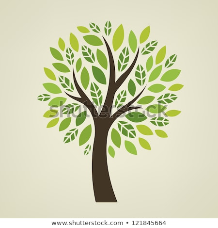 stylized tree with leaves for design stock photo © hermione